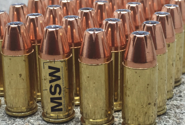 The Hornady XTP bullet seen here performs fairly well in ballistic testing, though the newest designs such as the Ranger SXT from Winchester is among the best performing defensive handgun ammunition around.